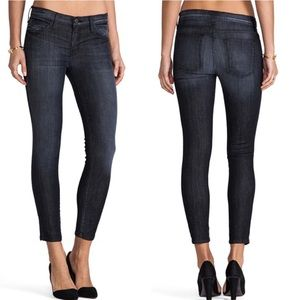 Current Elliot the stiletto skinny crop jean coal